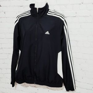 Adidas Black and White Windbreaker sz Large